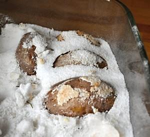Brambory v soli